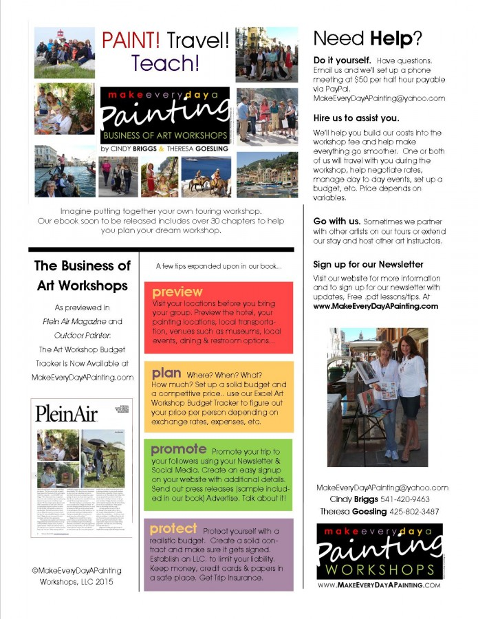 The Business of Art Workshops - Paint! Travel! Teach!