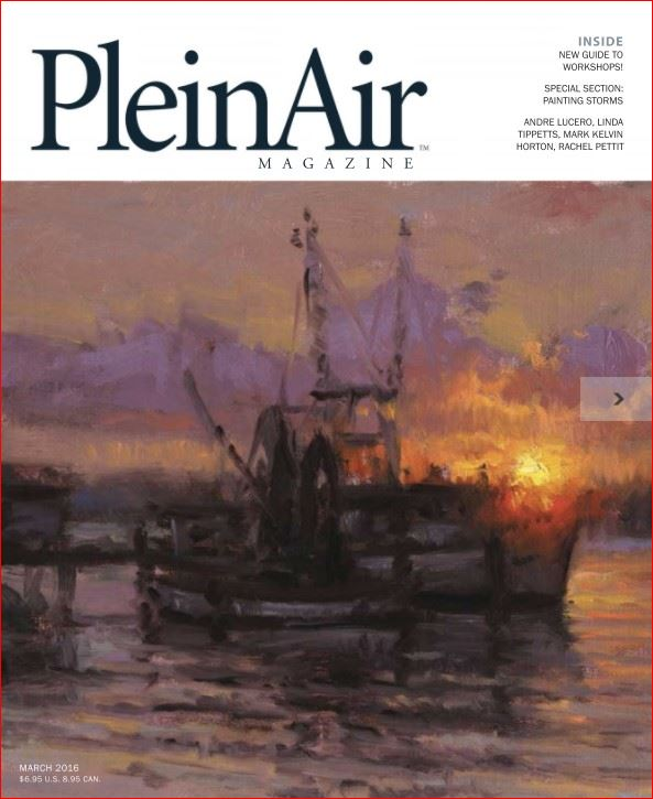 Plein Air Magazine Cover