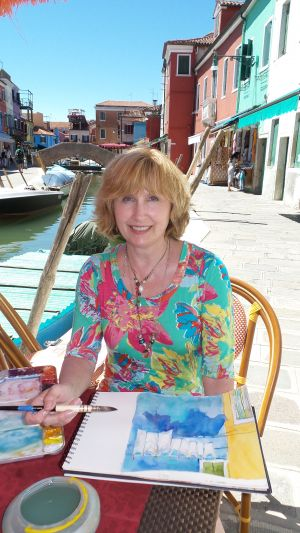 Cindy teaching in Burano